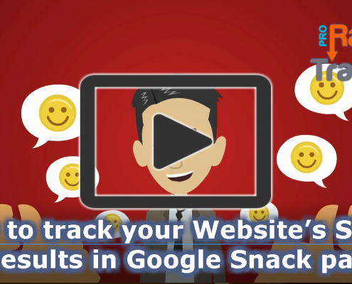 How to track your Website's SERP results in Google Snack packs?